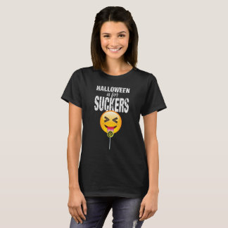 Funny Halloween Emoji Tongue Out Shirt