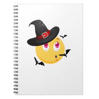Funny Halloween Emoji Witch Gift  Boy Girl Kids Notebook