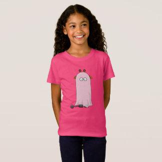 Funny Halloween Giraffe In Ghost Costume T-Shirt