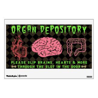 Funny Halloween Haunted House Organ Depository Wall Decal