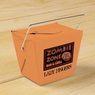 Funny Halloween Lady Fingers Zombie Food Takeout Party Favor Box