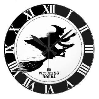 Funny Halloween Large Clock