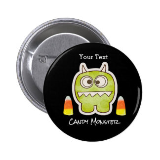 Funny Halloween Monster, Candy Corn Trick or Treat 2 Inch Round Button