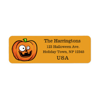 Funny Halloween Pumpkin custom labels
