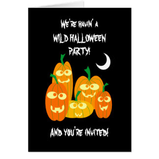 Funny Halloween Pumpkins Party Invitation Template