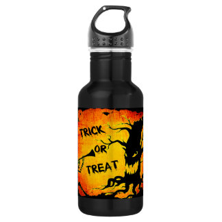Funny Halloween Skeleton Tree Trick or Treat 532 Ml Water Bottle