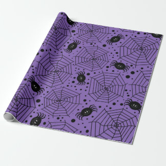Funny Halloween Spiders Wrapping Paper