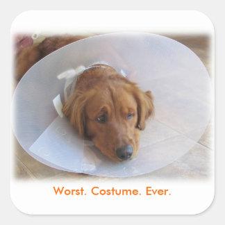 Funny Halloween Sticker Worst Costume Ever