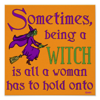 Funny Halloween Witch Poster