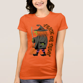 Funny halloween witch, trick or treat T-Shirt