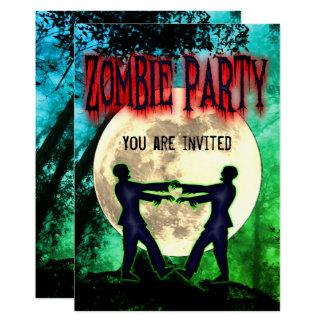 Funny Halloween Zombie Costume Party Invite