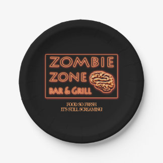 Funny Halloween Zombie Food So Fresh Paper Plate