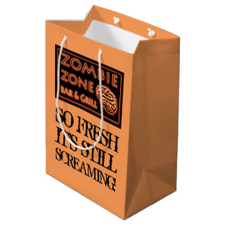 Funny Halloween Zombie Food To Go Trick-or-Treat Medium Gift Bag