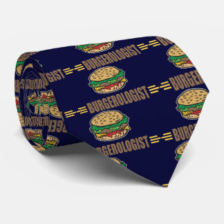 Funny Hamburger Cheeseburger Tie
