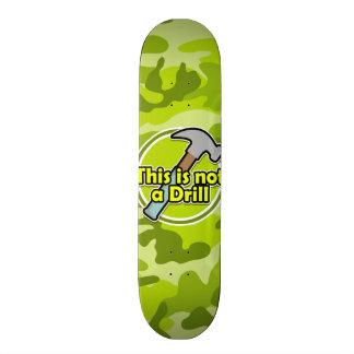 Funny Hammer bright green camo camouflage Skate Board