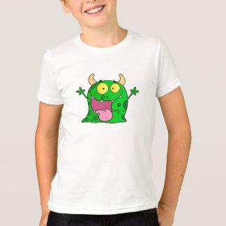 Funny Hand Drawn Green Monster Cartoon Art T-Shirt