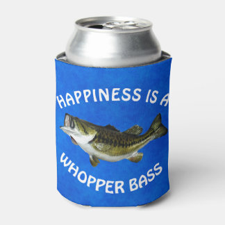 """Funny """"Happiness is a Whopper Bass"""" Can Cooler"""