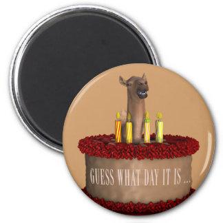 Funny Happy Birthday Camel 2 Inch Round Magnet