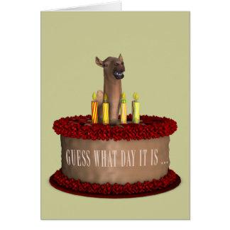 Funny Happy Birthday Camel Greeting Card
