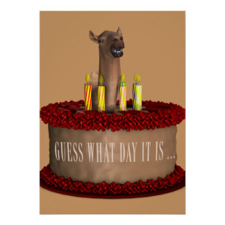 Funny Happy Birthday Camel Poster