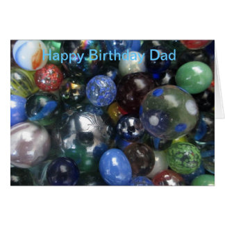 Funny Happy Birthday Dad Marbles Card