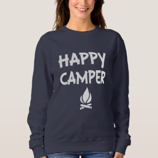 Funny Happy Camper women's sweater