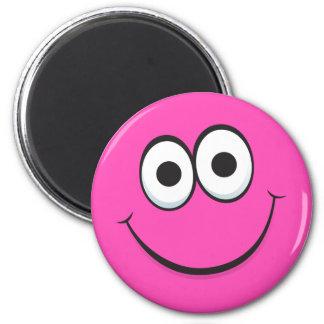 Funny happy cartoon face magnet