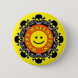 Funny Happy Halloween 2 Inch Round Button