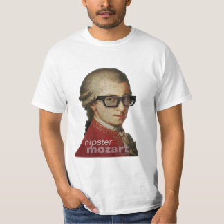 Funny Happy Hipster Mozart T-Shirt