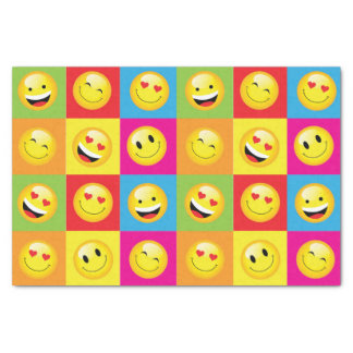 Funny Happy Smiley Emoji Kids Party Paper