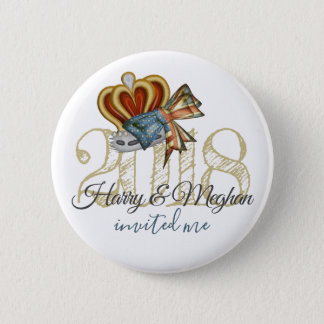Funny Harry And Meghan Invited Me Royal Wedding 2 Inch Round Button