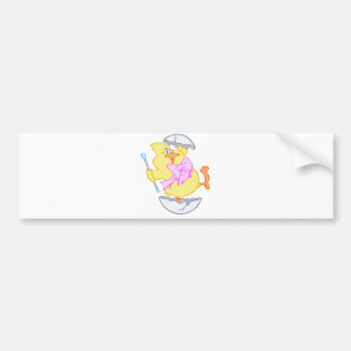 Funny Hatched Easter Chick Bumper Sticker