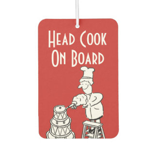 Funny Head Cook Cartoon Car Air Freshener