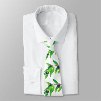 Funny healthy olive twig tie