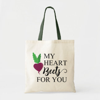 FUNNY HEART BEETS FOR YOU TOTE BAG | VEGETARIAN