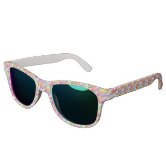 Funny Heart Pattern I - pastel colored Sunglasses