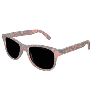 Funny Heart Pattern X - black red + your ideas Sunglasses