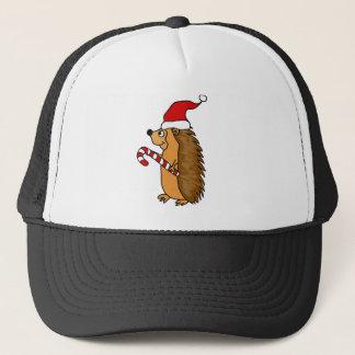 Funny Hedgehog in Santa Hat Christmas Art