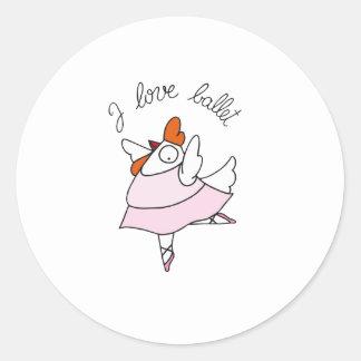 funny hen round sticker