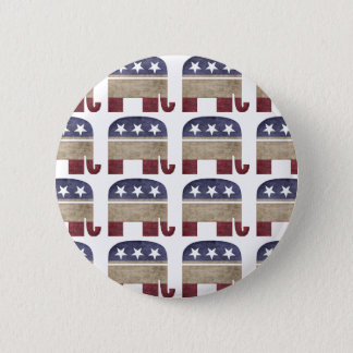 Funny Herd of Elephants Republican GOP Election 2 Inch Round Button