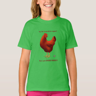 Funny Here's Your Chicken Nugget Red Hen T-Shirt
