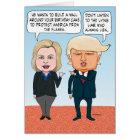 Funny Hillary Clinton and Donald Trump Birthday Card
