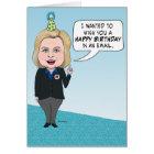 Funny Hillary Clinton Emails Birthday Card