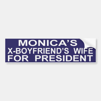 Funny Hillary Clinton for President Sticker Bumper Sticker