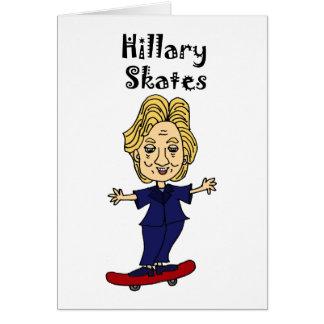 Funny Hillary Skates anti Hillary Political Art Card