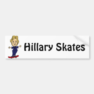 Funny Hillary Skates Political Email Sticker Bumper Sticker