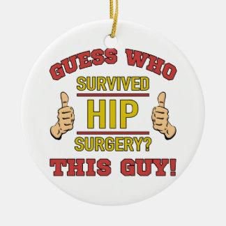 Funny Hip Surgery Ceramic Ornament