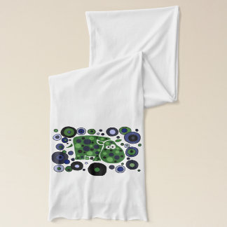Funny Hippo Abstract Art Scarf