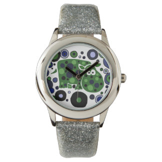 Funny Hippo Abstract Art Watch