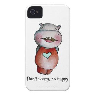 Funny Hippo Blackberry Case
